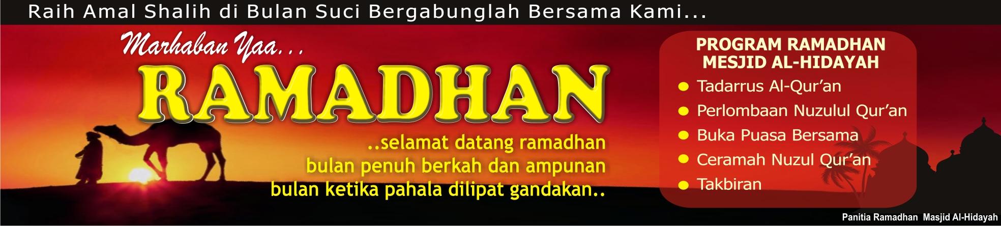 Spanduk Marhaban Ya Ramadhan Enciknas Art