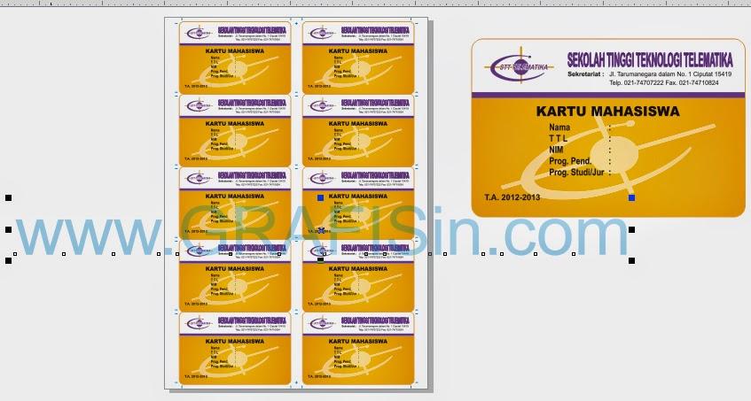 membuat id card otomatis di coreldraw